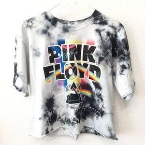 Tops - NWOT Pink Floyd Dark Side of the Moon Crop Top